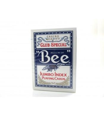 Jeu Bee  Jumbo Index de 55 cartes - dos bleu -Réf. 77R
