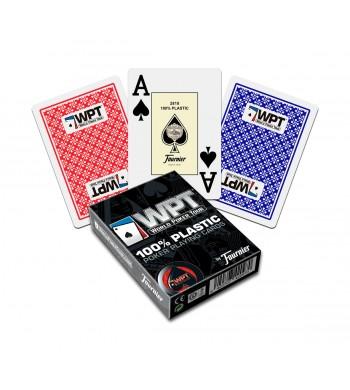 Jeu WPT - 100 % plastiques - 55 cartes - Fournier