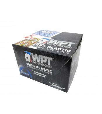 Jeux WPT de 55 cartes 100 % plastiques - Réf. WPT