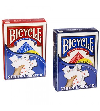 """Jeu """"Biseauté"""" - rouge et bleu BICYCLE®"""
