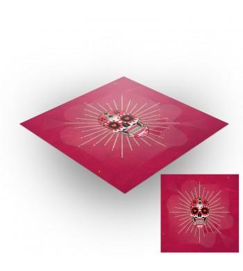 Tapis de jeux polyester - 60x60 - Calavera