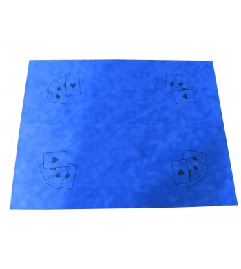 Tapis bleu 50x67cm