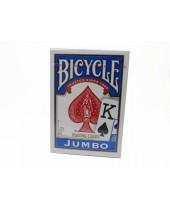 Jeu Bicycle Jumbo Index de 55 cartes - dos bleu - Réf. 88