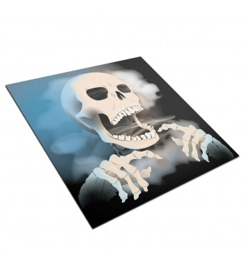 Tapis de jeux polyester - 60x60 - Smoking skull