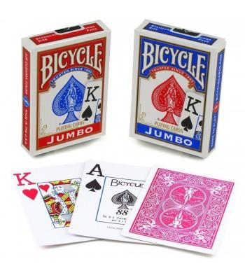 Jeu Bicycle Jumbo Index de 55 cartes - dos bleu